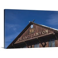 Premium Thick-Wrap Canvas entitled Low angle view of a railroad station, Grand Canyon Depot, Grand Canyon Village,
