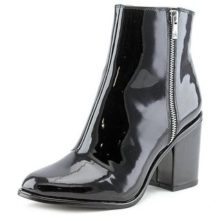 Calvin Klein Cilil Round Toe Synthetic Ankle Boot