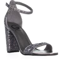 G by Guess Shantel11 Ankle Strap Sandals, Silver Multi - 6 us