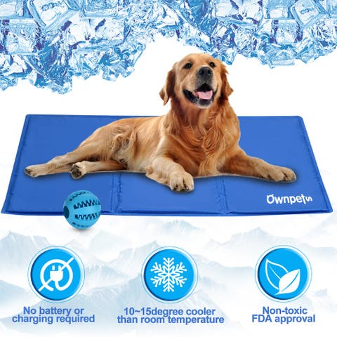 Dog Cooling Mat Pad Gel Cooler For PET Crate Bed Comfort Chilly Beds S/L size - M