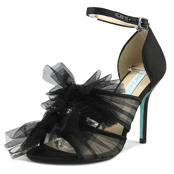 Betsey Johnson Big Women Black Sandals