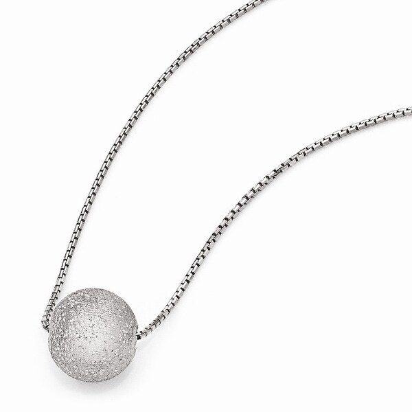 Italian Sterling Silver Radiant Essence Rhodium-plated Necklace with 2in ext - 18 inches