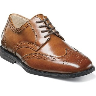 Florsheim Boys' Reveal Wingtip Jr. Cognac Leather