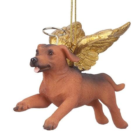 Design Toscano Honor the Pooch: Dachshund Holiday Dog Angel Ornament