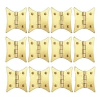 12 Cabinet Hinges Bright Brass Hinge 2 3/8 x 2 | Renovator's Supply