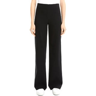 Theory Womens Wide Leg Pants Office Business - Black - S