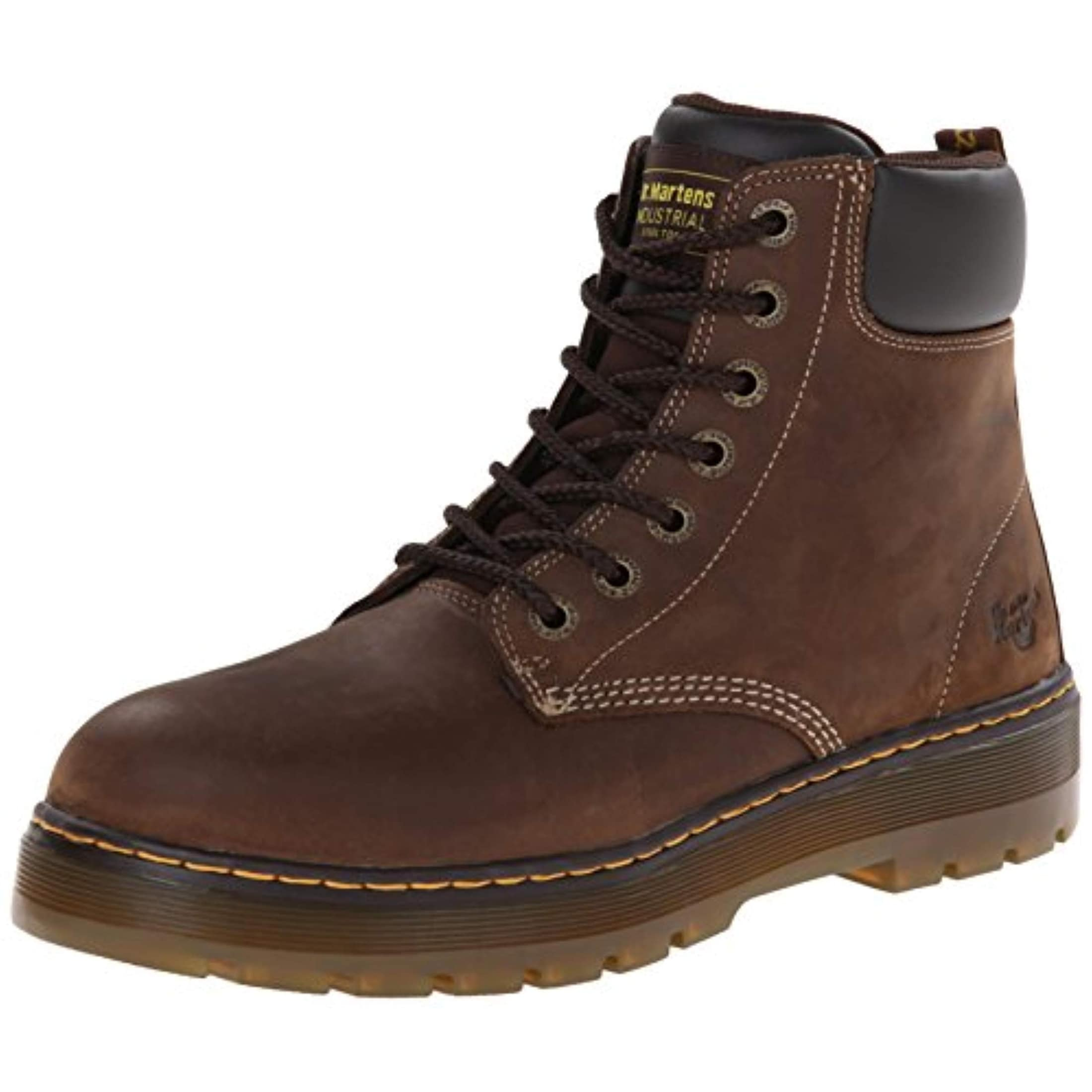 529e64e4f4a Dr. Martens Men's Winch 7-Eye Lace-Up Steel-Toe Dark Brown Boot