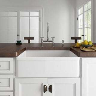 Link to Eridanus 33-inch Apron-Front Farmhouse Kitchen Sink Similar Items in Sinks