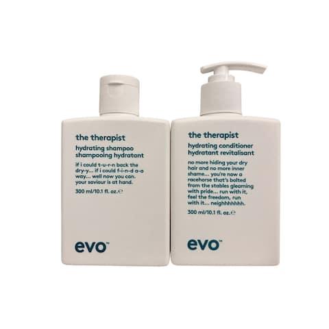 evo The Therapist Hydrating Shampoo & Conditioner Set 10.1 OZ Each - 15.1 - 20 Oz.