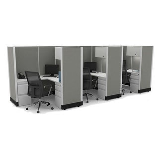 Link to Modular Office Desk Furniture 67H 3pack Inline Powered Similar Items in Desks & Computer Tables