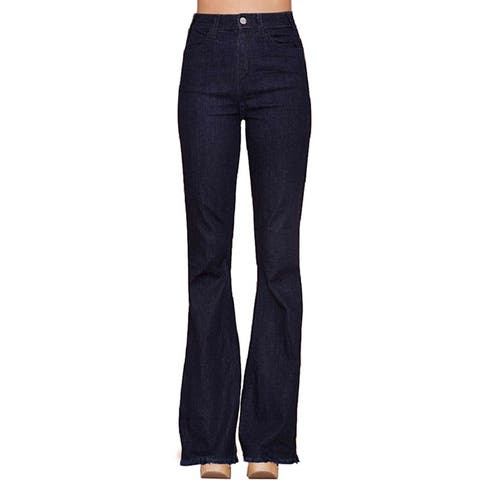 Hidden Jeans Womens Dark Wash Flare Skinny Jeans