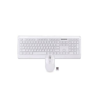 106-Key 2.4GHz Wireless Multimedia Keyboard & Optical Mouse Kit (White)