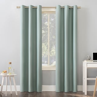 Link to Sun Zero Cyrus Thermal Total Blackout Grommet Curtain Panel Similar Items in Blackout Curtains