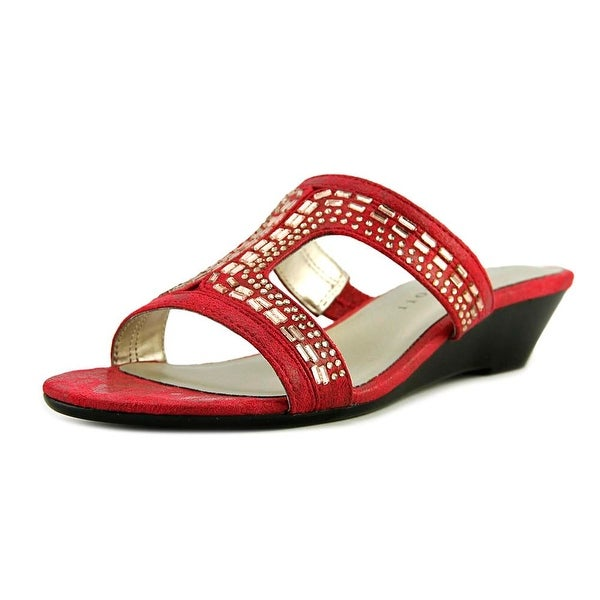 Karen Scott Seryne Women Open Toe Synthetic Red Slides Sandal