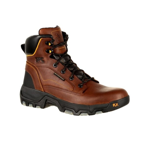 Georgia Boot Work Mens FLXPoint Leather Lace Up 11.5 W Brown