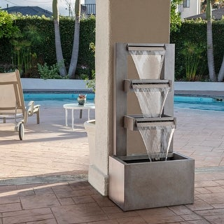 Link to Alpine 43-inch Multi-tier Modern Industrial Metal Fountain Similar Items in Outdoor Decor