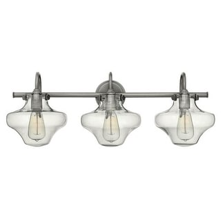 "Hinkley Lighting 50031 3 Light 30"" Width Bathroom Vanity Light with Clear Schoolhouse Shade from the Congress Collection"
