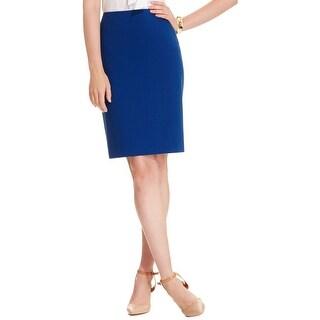Anne Klein Womens Pencil Skirt Slim Fit Solid