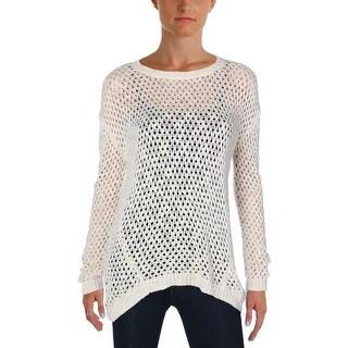 Buffalo David Bitton Womens Pullover Sweater Crochet Long Sleeves