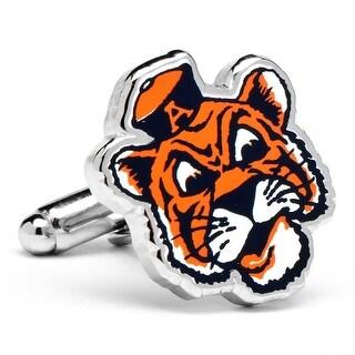 Auburn University Tigers Vintage Logo Cufflinks - Orange