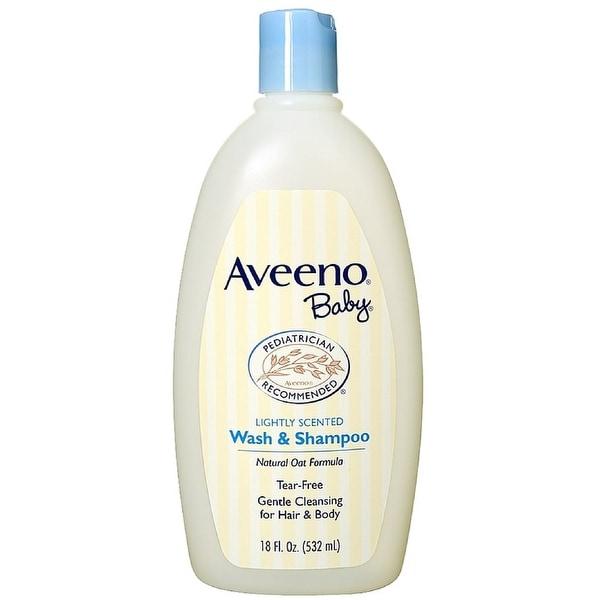 AVEENO Baby Wash & Shampoo, Lightly Scented 18 oz
