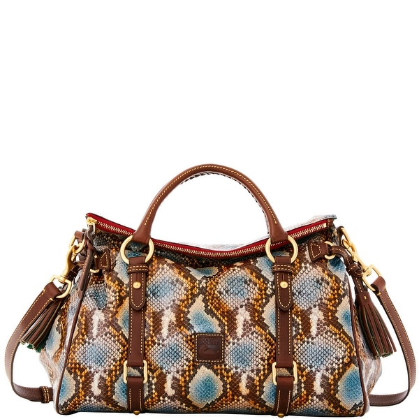 Dooney & Bourke City Python Medium Satchel (Introduced by Dooney & Bourke at $468 in Sep 2016) - DENIM
