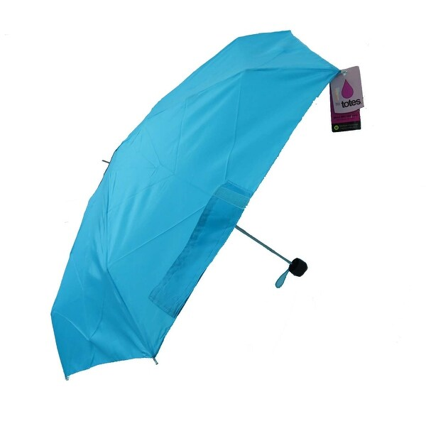 c9ca09f27 Shop Raines by Totes Micro Mini Aqua Umbrella with Medium Coverage - Free  Shipping On Orders Over $45 - Overstock - 17827173