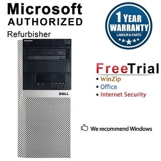 Dell OptiPlex 980 Computer Tower Intel Core I7 860 2.8G 4GB DDR3 250G Windows 10 Pro 1 Year Warranty (Refurbished) - Black