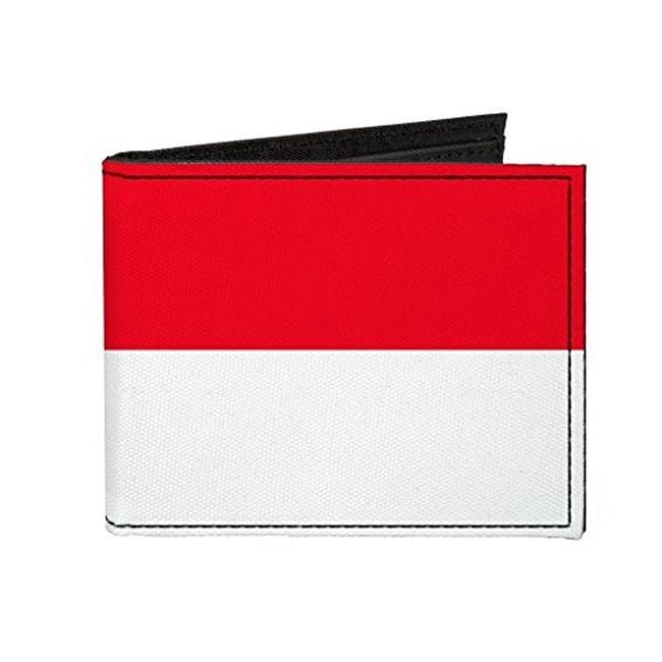 Buckle-Down Canvas Bi-fold Wallet - Monaco Flag Accessory