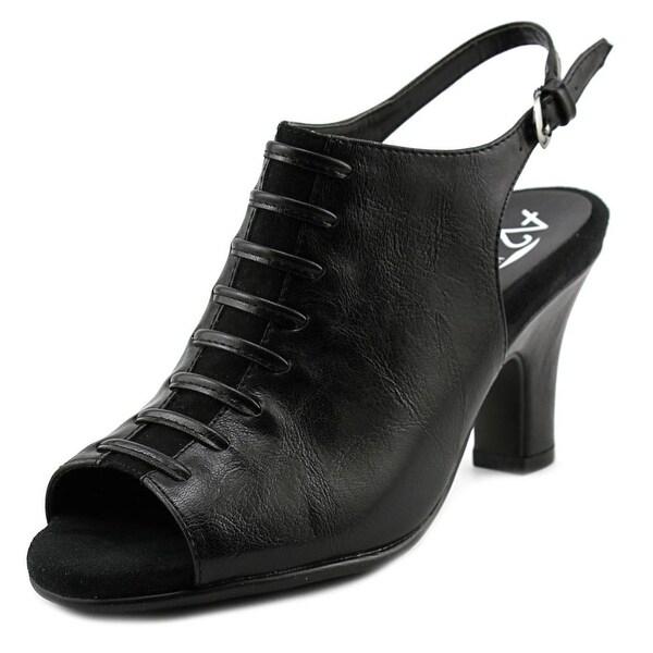 A2 By Aerosoles Gingersnap Women Open-Toe Synthetic Black Slingback Heel