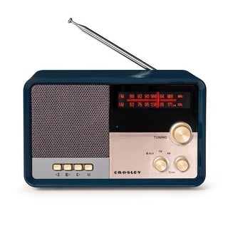 "Link to Tribute Radio - Navy - 6.14""W x 4.13""D x 3.4""H Similar Items in Radios & Clock Radios"