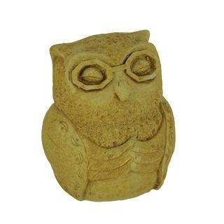 Designer Stone Harvest Yellow Zen Owl Concrete Statue - 5.25 X 4 X 3.75 inches