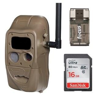 Cuddeback CuddeLink Black Flash 20MP Trail Camera with 16GB Card and Reader
