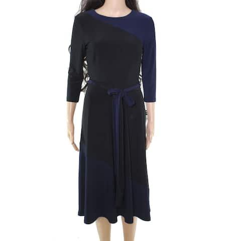 Lauren by Ralph Lauren Women's Dress A-Line Belted