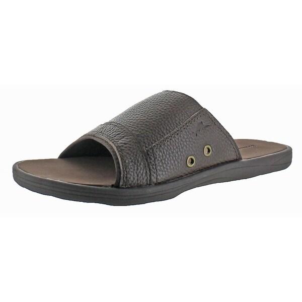 Tommy Bahama Seawall Men's Leather Slide Sandals