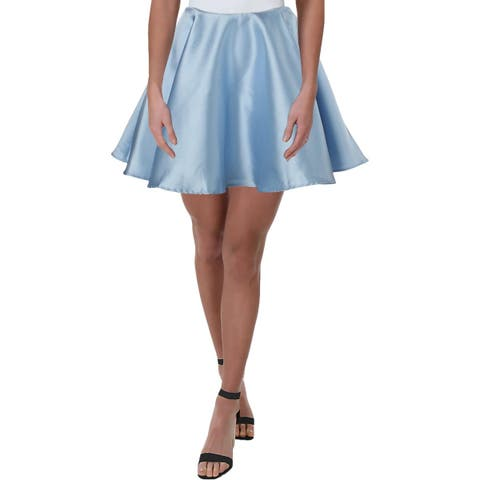 City Studio Womens Juniors A-Line Skirt Satin Party - 7
