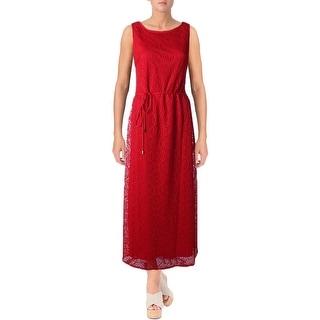 Sandra Darren Womens Maxi Dress Crochet Sleeveless