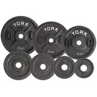 York Barbell 2814 Uncalibrated Standard Kilo Olympic Plate - 1 kg