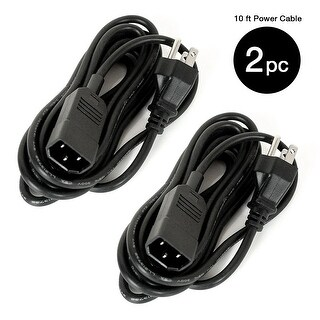 Partysaving 10 ft Power Cable, Set of 2 - N/A