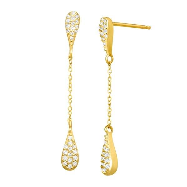 1/5 ct Diamond Triple Teardrop Earrings in 10K Gold