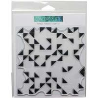 """Triangle Turnabout - Concord & 9Th Clear Stamps 6""""X6"""""""
