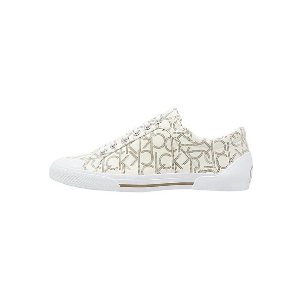 Calvin Klein Womens Giselle Iconogram Low Top Lace Up Fashion Sneakers