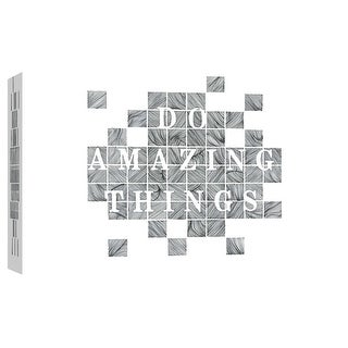 """PTM Images 9-102097  PTM Canvas Collection 8"""" x 10"""" - """"Do Amazing Things"""" Giclee Sayings & Quotes Art Print on Canvas"""