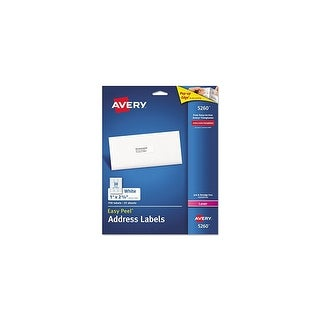 Avery Easy Peel Label Address Laser Printer 1x2 , 5/8 25 White-750/pack Easy Peel Label Address Laser Printer 1x2 , 5/8 25