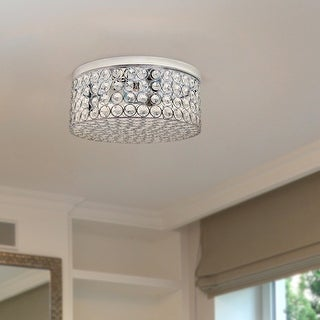 Link to Silver Orchid Bergman 12-inch Elipse Round Flushmount Similar Items in Doors & Windows