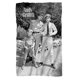 Trevco Andy Griffith-Lawmen - Fleece Blanket, White - 36 x 58 in.