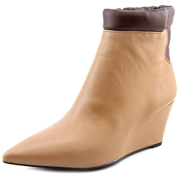 H by Halston Kimberly Women  Pointed Toe Leather  Bootie