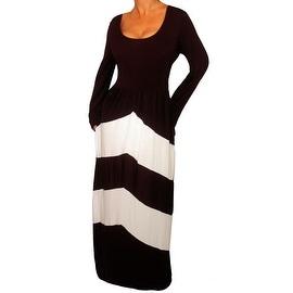 Funfash Plus Size Dress Black White Chevron Slimming Womens Maxi Dress