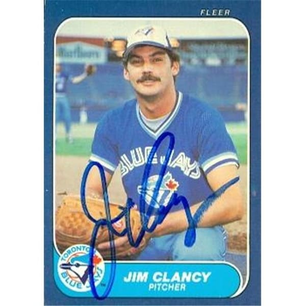 Shop Jim Clancy Autographed Baseball Card Toronto Blue Jays 1986