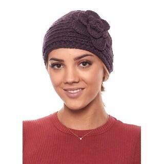 Polar Primrose Knit Winter Headband with Flower